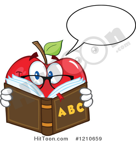 Apple Clipart #1210659: Talking Red Apple Mascot with.