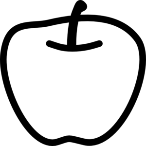 Apple Black And White Clip Art at Clker.com.