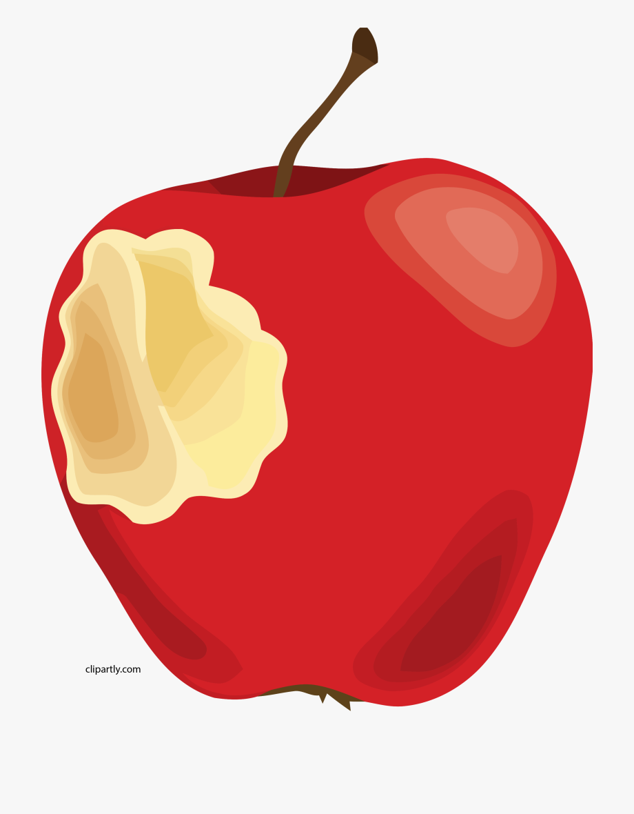 Apple With A Bite Out Of It Clipart Png.