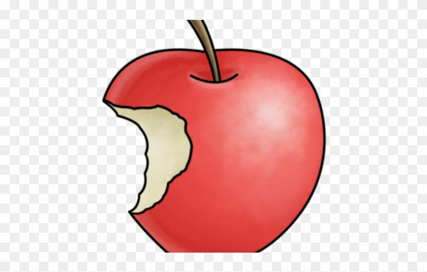 Cartoon Apple With Bite Clipart (#1400813).
