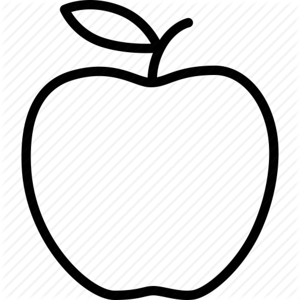 Apple Clip Art Outline Apple Outline Vector Huge Freebie.