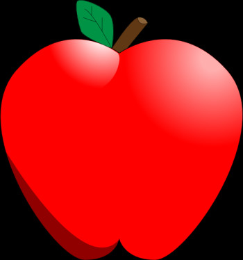 Apple clipart black background.