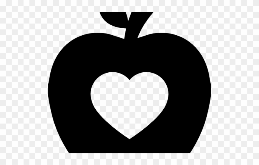 Heart Clipart Apple.