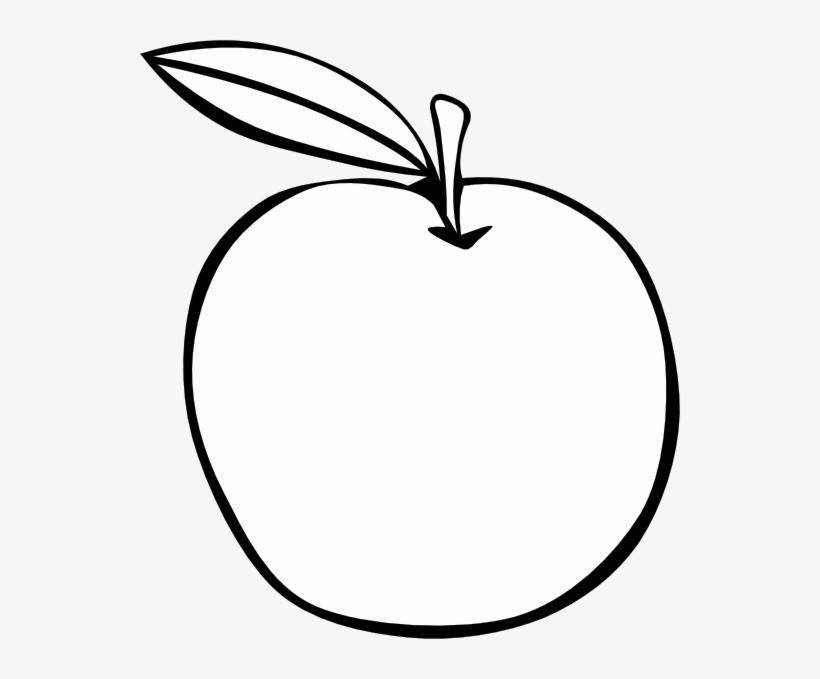 Apple Coloring Fruit Svg Clip Arts 540 X 599 Px.