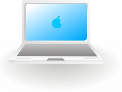 Apple laptop computer clipart.