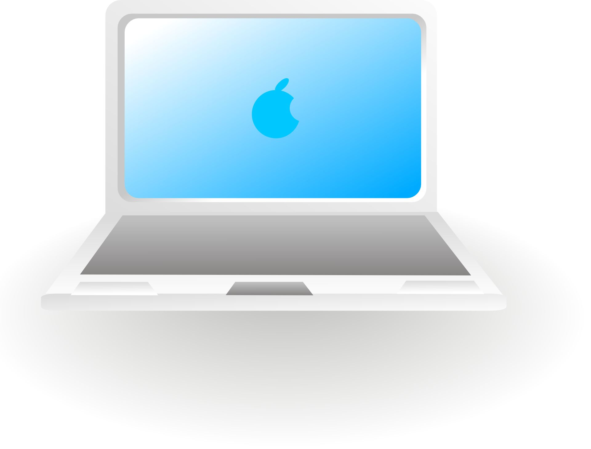 Apple Laptop Computer Clip Art.