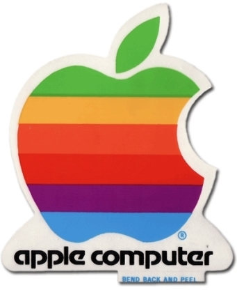 Apple Computer logo sticker.