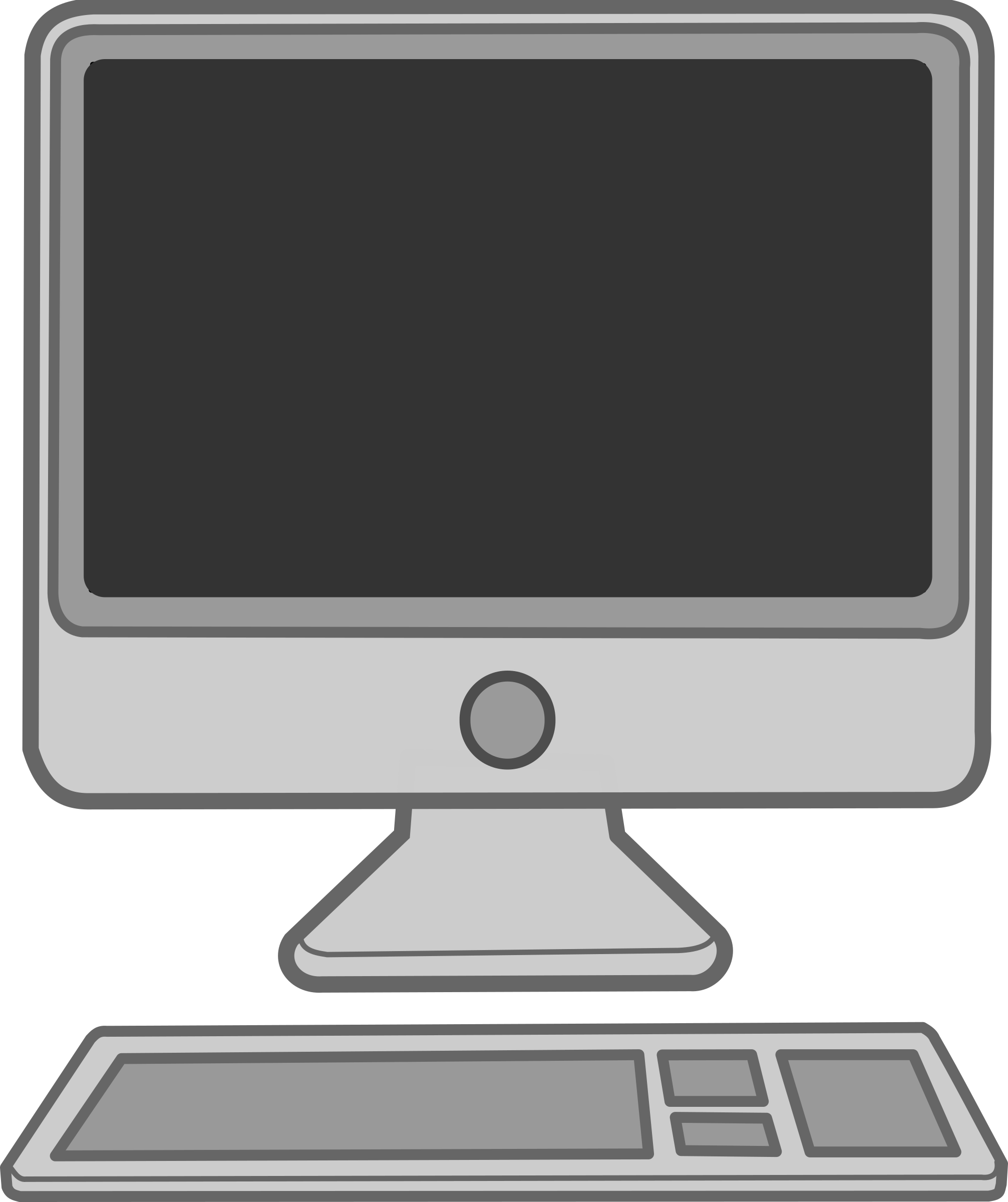 Show Clipart Apple Computer Blank Computer Screen Png.