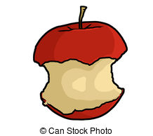 Apple core Stock Illustrations. 394 Apple core clip art images and.