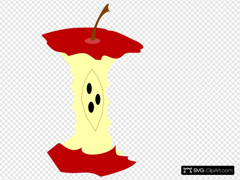 Red Apple Core Clip art, Icon and SVG.