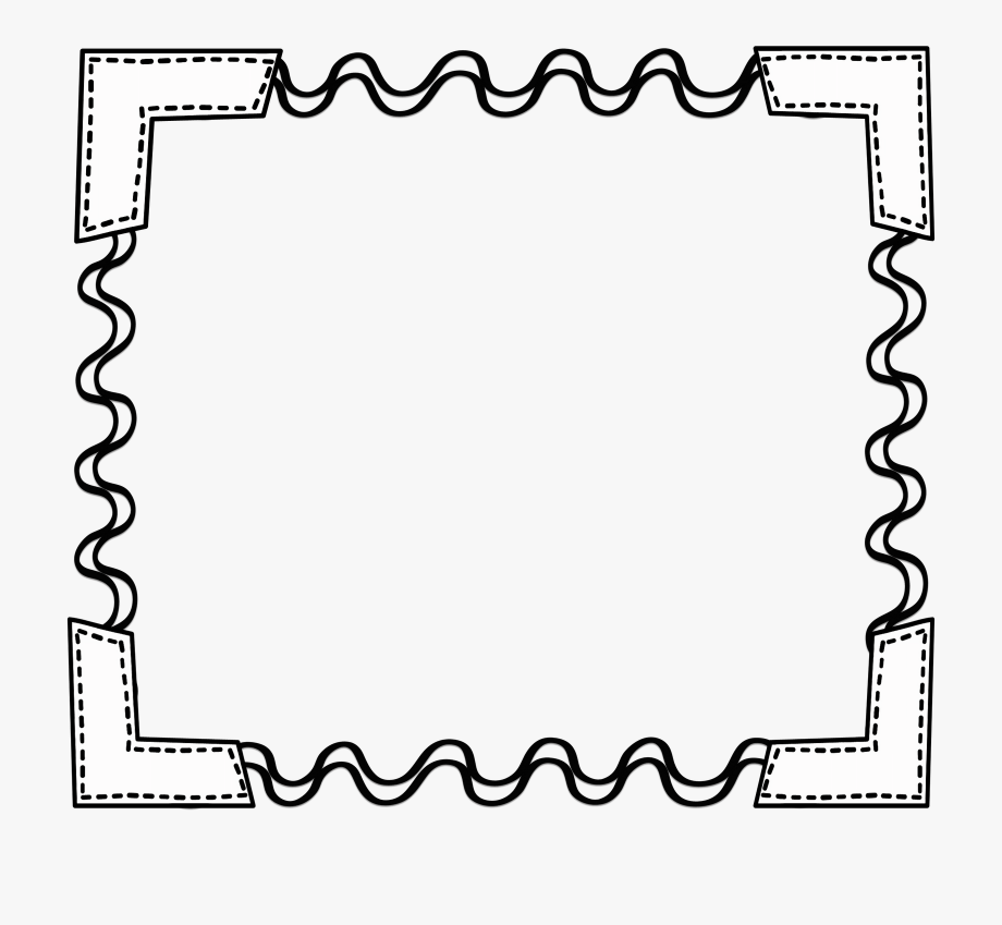 Simple Apple Border Clipart Black And White 12 Clip.