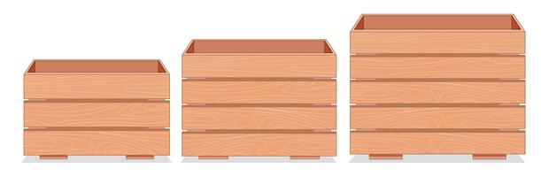 Wooden Crate Free Vector Art.