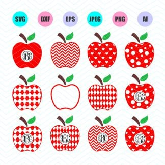 SVG File, Apple SVG, Apple SVG File,DXF File, PNG File, Clipart, Digital  Cut Files, Cricut explore, Silhouette cameo.