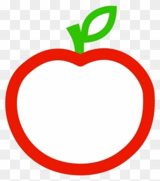 Apple Cut In Half Clipart.
