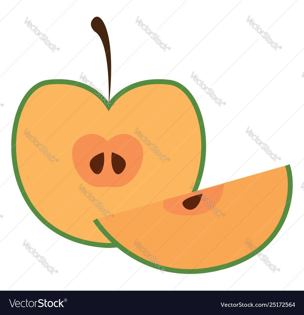 Half apple or color.