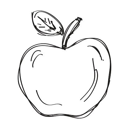 Clipart apples doodle, Clipart apples doodle Transparent.