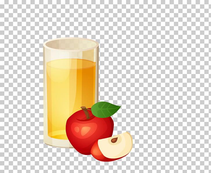 Apple juice Apple cider , Cartoon apple juice PNG clipart.