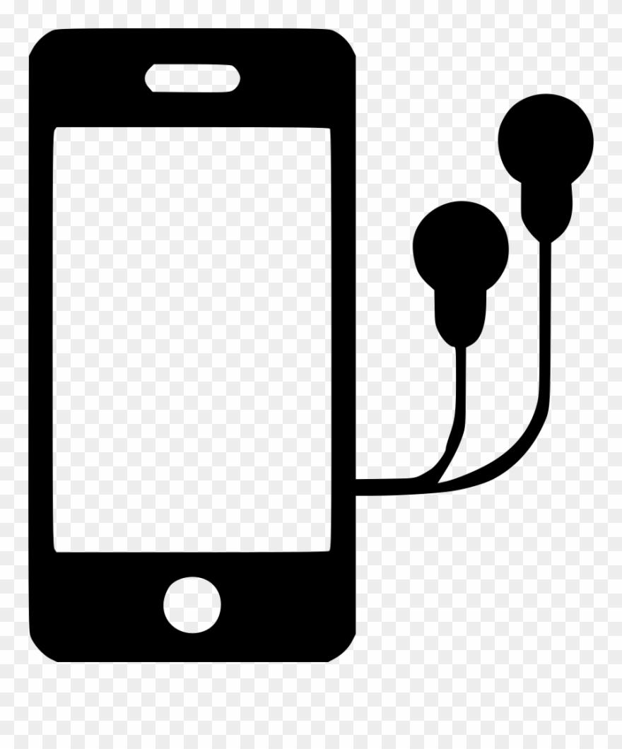 Iphone With Headphones Clipart Apple Earbuds Headphones.