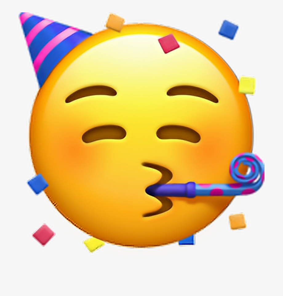 Party Hat Emoji Transparent Clipart Free Download Ya.