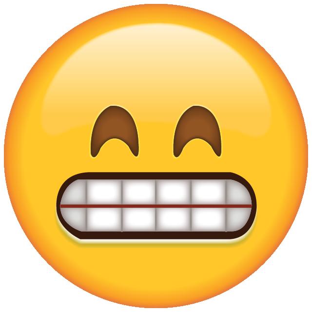 Download Grinning Emoji with Smiling Eyes.