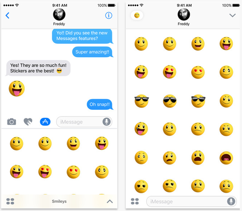 Apple unleashes four shiny new emoji sticker packs.