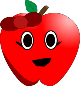 Clipart apple face, Clipart apple face Transparent FREE for.