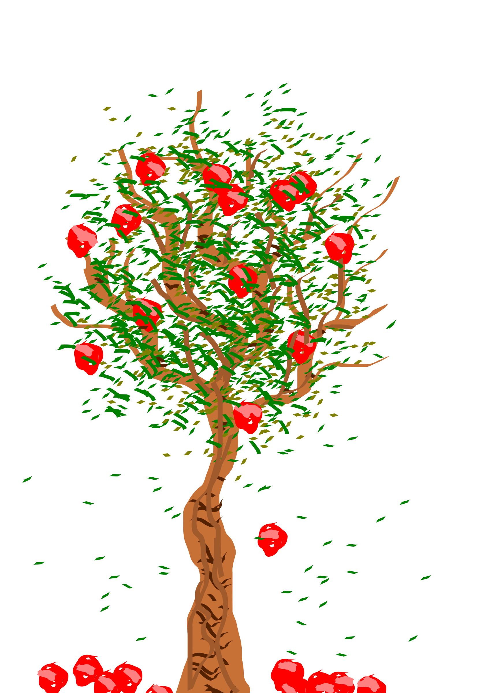 Apple Falling From A Tree Clipart.