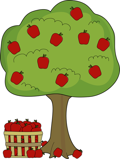 Apple Tree with Apple Basket.