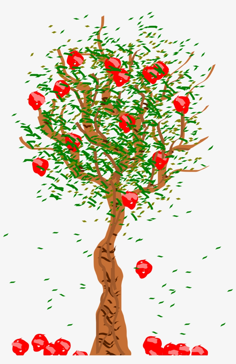 28 Collection Of Apple Falling From Tree Clipart.
