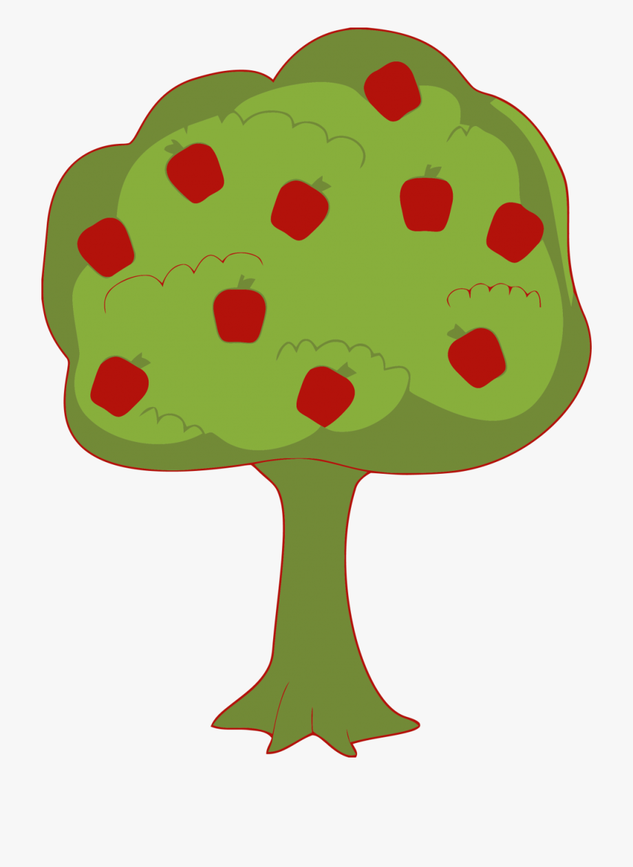 Red Apple Tree Clipart Png.