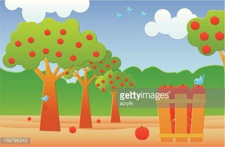 Apple Farm Clipart Image.