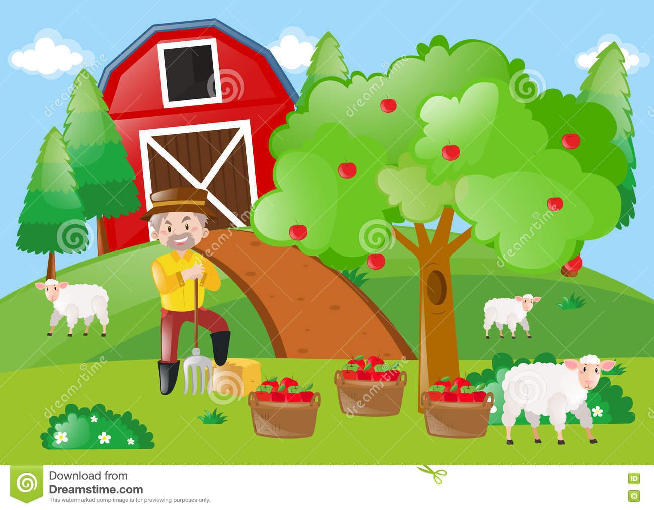 Apple Farm Clipart.