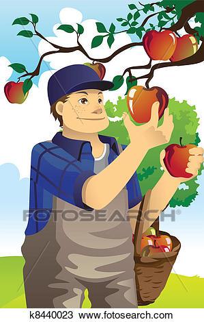 Apple farmer Clipart.