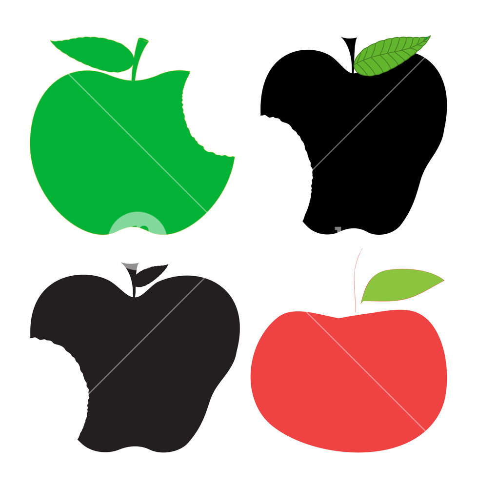 Apples Shapes Clipart Royalty.