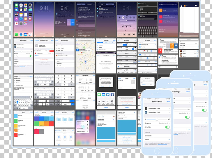 Graphical user interface User interface design iOS 9 Flat.