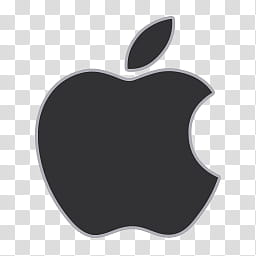 Flat Gray Icons, apple, black Apple logo transparent.