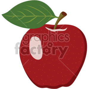 apple flat icon clip art . Royalty.