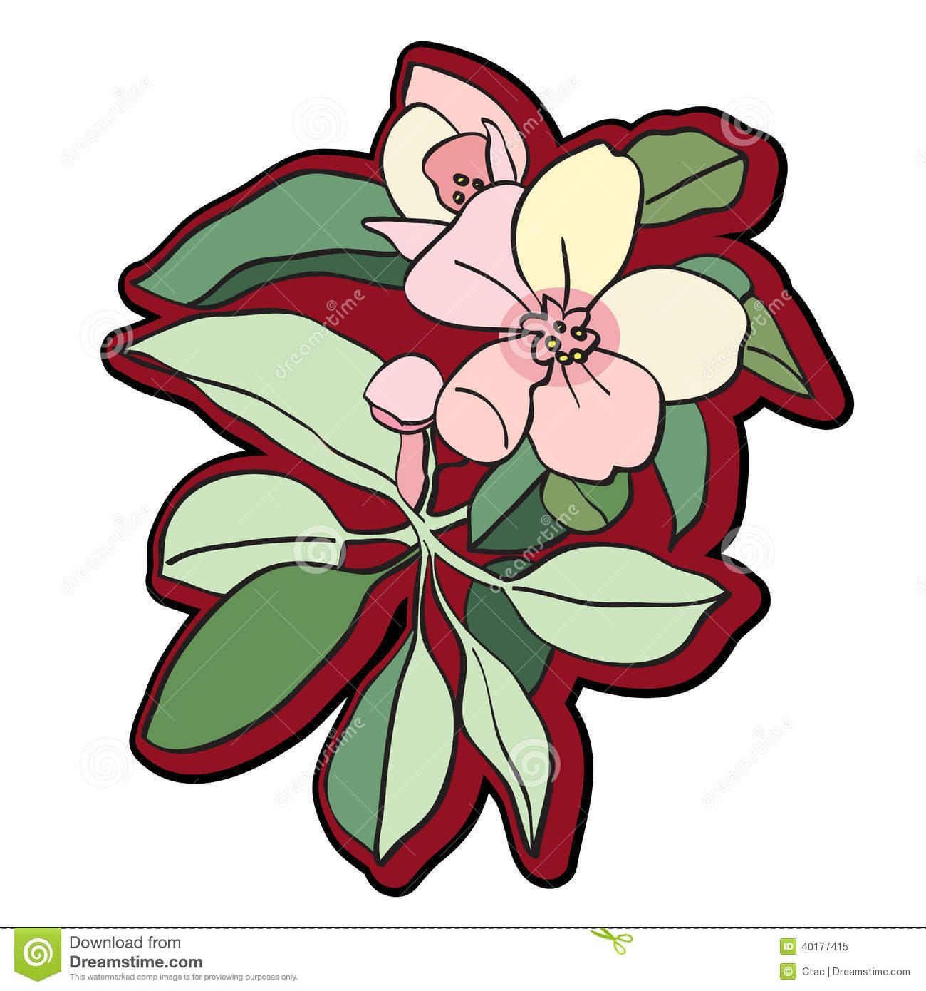 Tree Flower Clipart Stock Illustration.