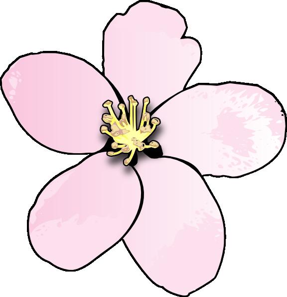 Pink Apple Blossom Clip Art at Clker.com.
