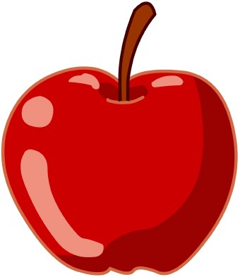 Apple clip art.