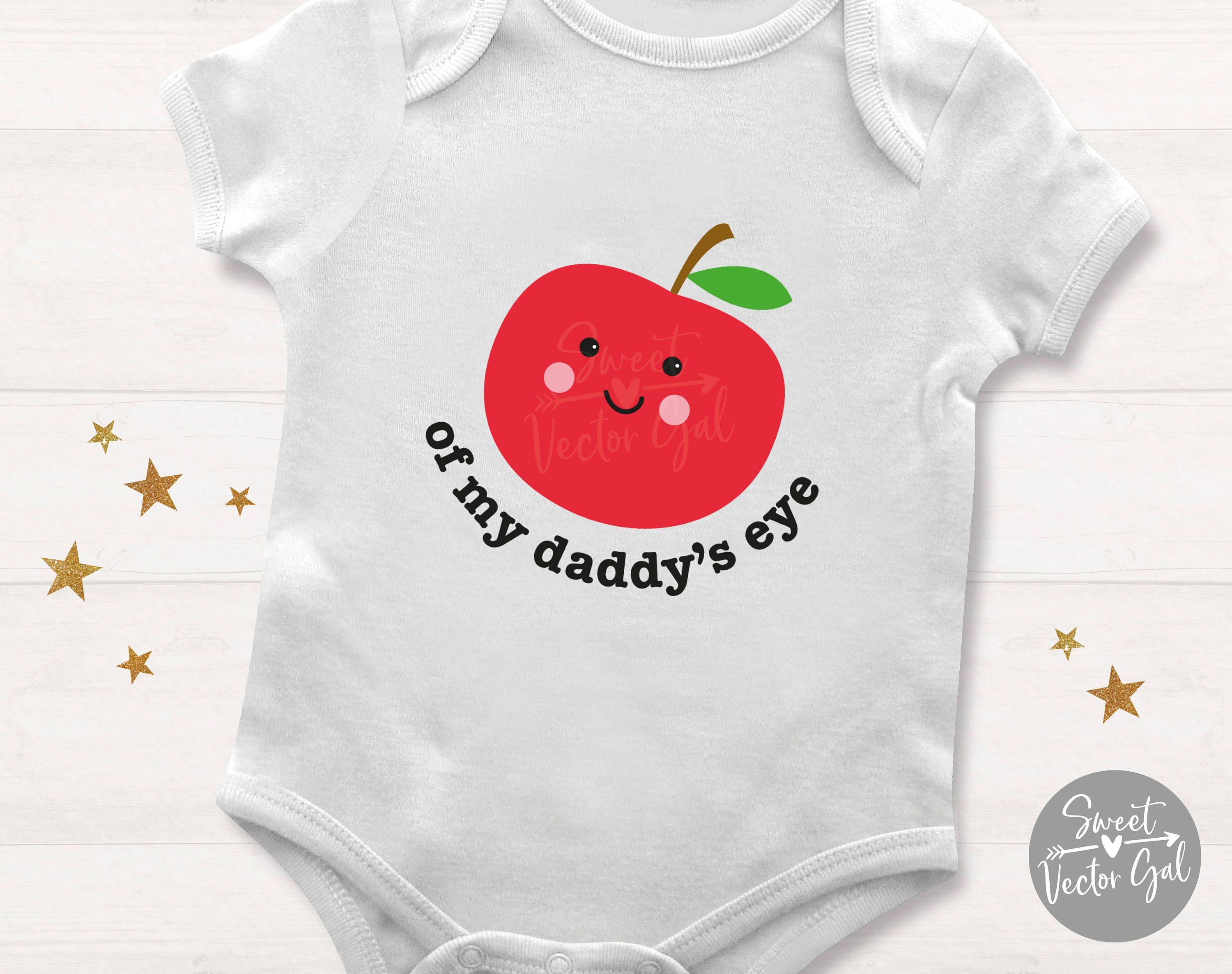 Apple of Daddys Eye svg, cute kids svg, apple of my eye svg.