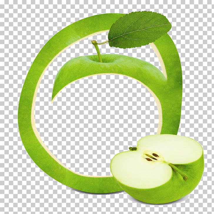Smoothie Fruit Apple frame , Green Apple PNG clipart.