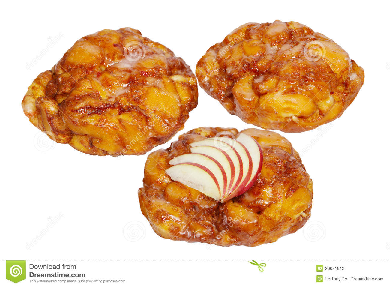 Apple Fritter Donuts Stock Photography.