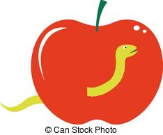 Vector Clipart of apple tree from fruit.