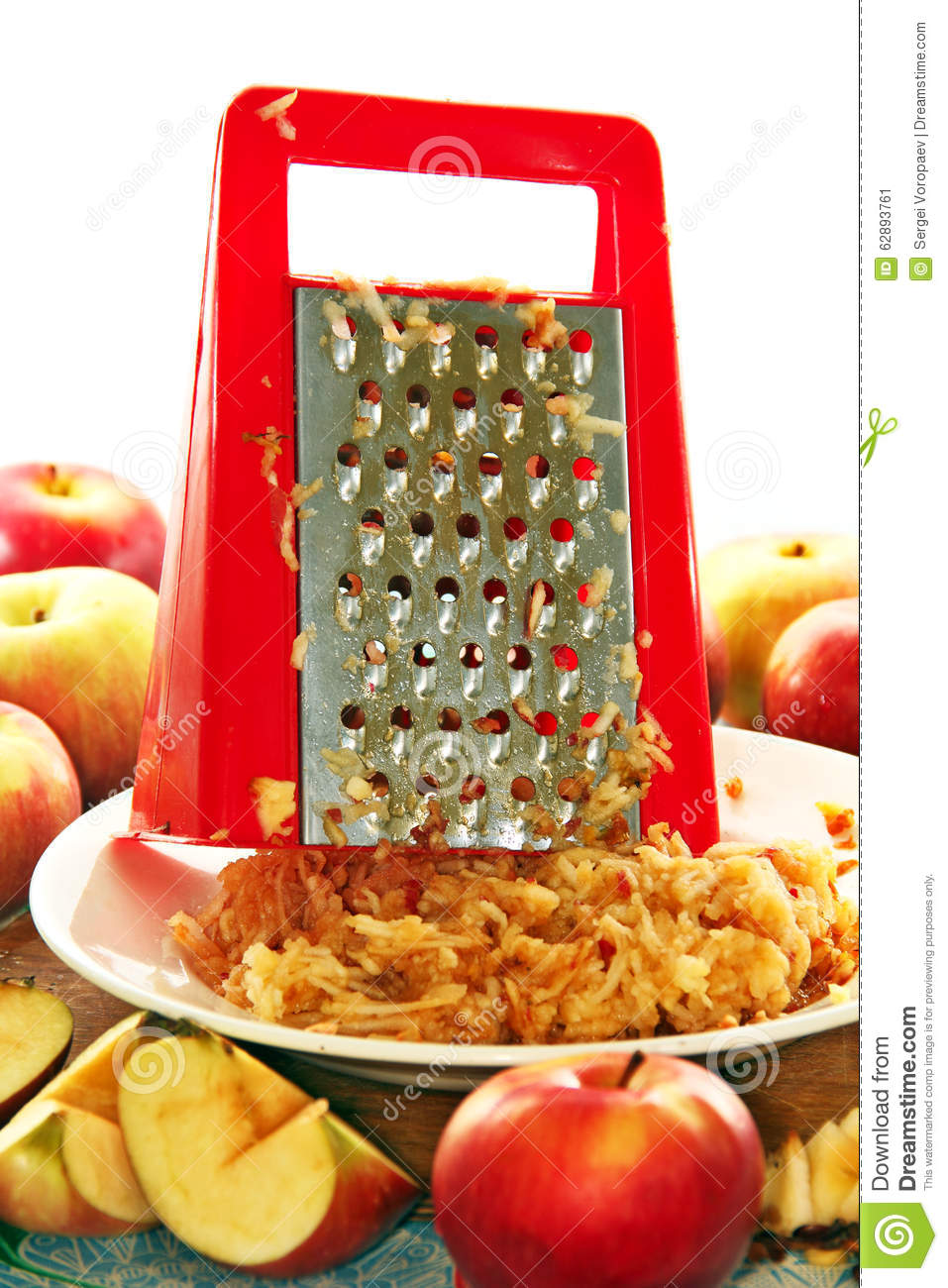 Kitchen Grater And Apples. Stock Photo.