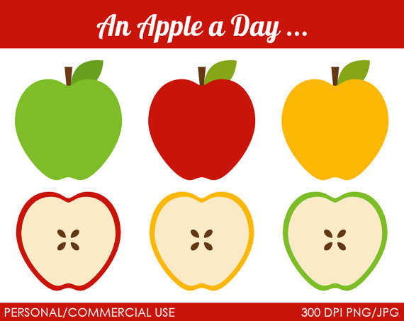Green And Red Apple Clipart.