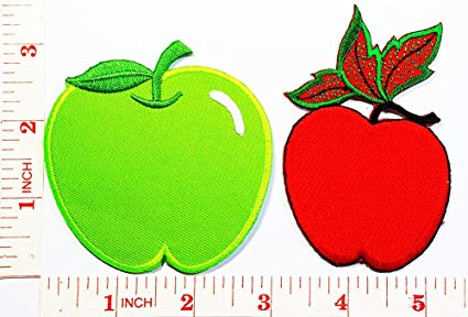 Amazon.com: green Apple fruit Cartoon Patch Jacket Polo T.