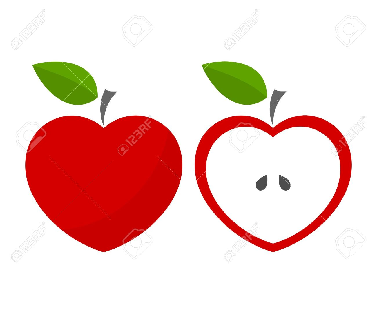 Apple heart clipart 6 » Clipart Station.