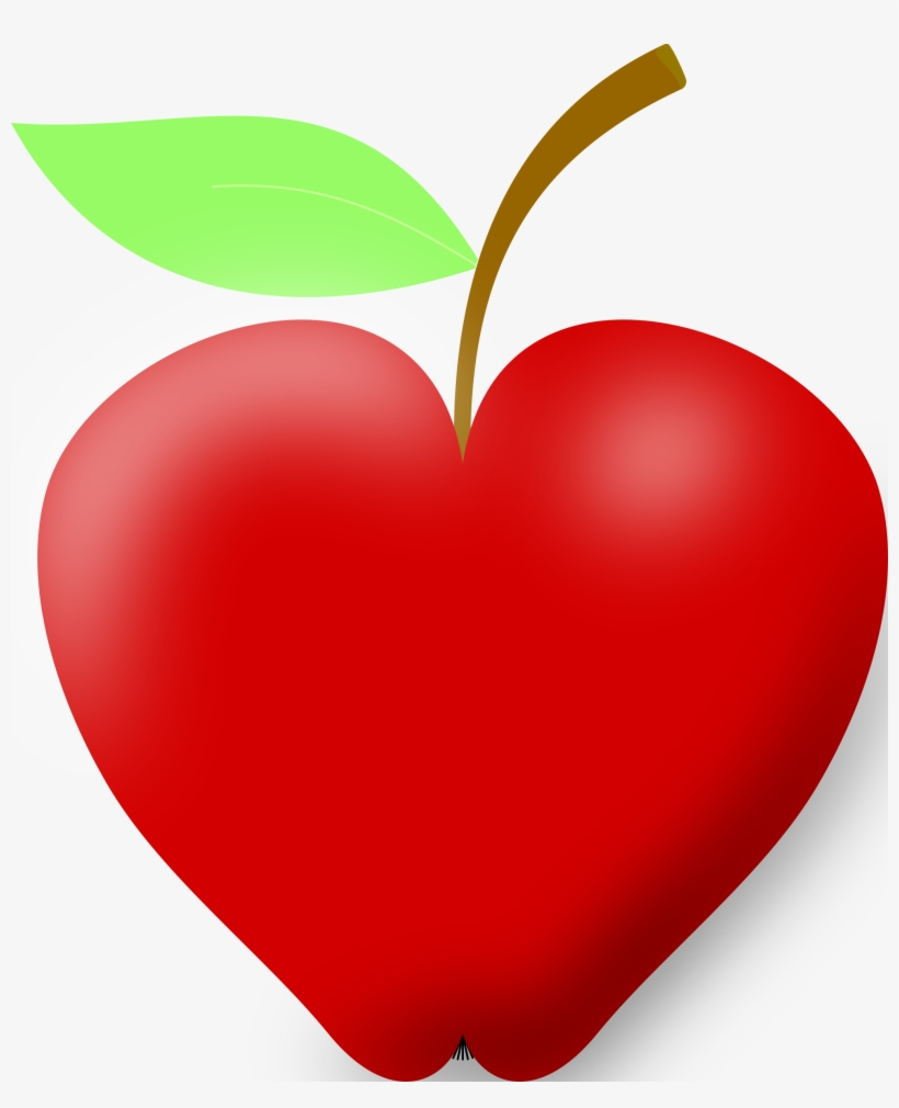 Apple Clipart Heart Jpg Free Library.