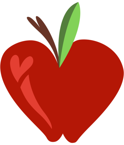 Apple Heart Clipart.